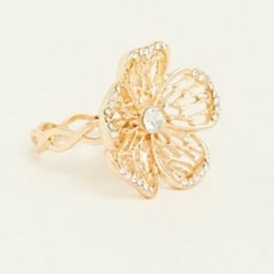 NWT Torrid gold lattice flower ring 9 11